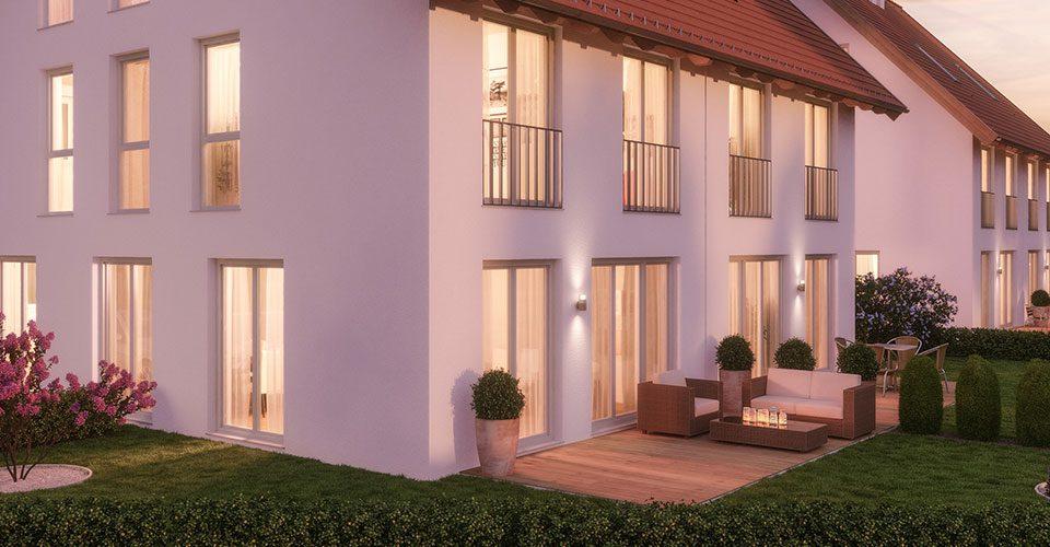 Neubau von 6 Doppelhaushälften in Gilching