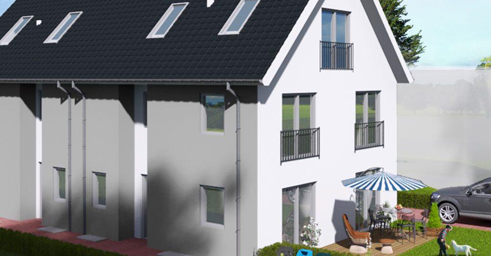 Neubau von 2 Doppelhaushälften in Augsburg