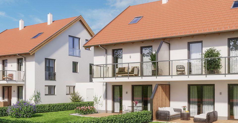 Neubau von 4 Doppelhaushälften in Germering